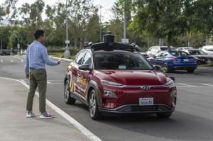 مركبات هيونداي ذاتية القيادة على طرقات إرفاين بكاليفورنيا