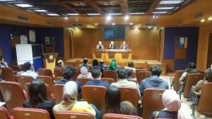 محاضرة توعوية حول النزاهة ومكافحة الفساد في حقوق جامعة عمان الأهلية