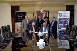 اتفاقية تعاون مشترك بين جامعة عمان الاهلية ومعهد الخرسانة الامريكي