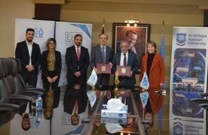 مذكرة تفاهم بين جامعة عمان الأهلية وشركة الحوسبة الصحية