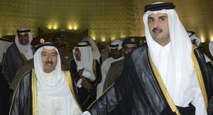 أمير الكويت يبعث برقية عاجلة للشيخ تميم