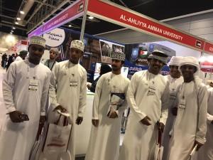 مشاركة متميزة لجامعة عمان الاهلية بمعرض عُمان للتعليم العالي