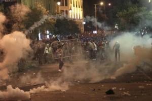 لبنان : 90 اصابة بمواجهات في بيروت