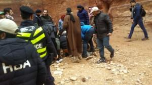 وفاة سائح اثر سقوط حجر عليه على رأسه في البترا