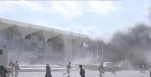 قتلى وجرحى بانفجار في مطار عدن مع وصول الحكومة اليمنية الجديدة