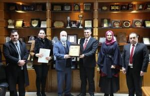 وفد من سفارة الجمهورية العربية السورية يزور جامعة العلوم التطبيقية الخاصة