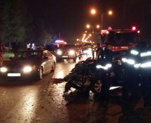 اصابة سيدة وابنائها الثلاث بحادث دهس على طريق المطار