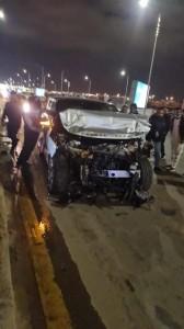إصابة الاعلامي المصري عمرو أديب بحادث سير (صور)