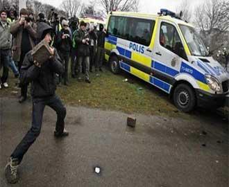 """مظاهرة معادية """"لإسرائيل"""" في مباراة للتنس في السويد"""