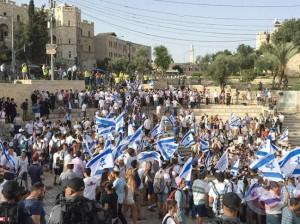 الشرطة الإسرائيلية توافق على تنظيم (مسيرة الأعلام)