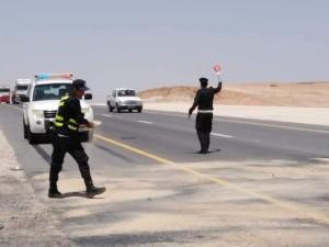 حادث سير لمركبة بعد دقائق من تحرير مخالفة سرعة زائدة بحق سائقها