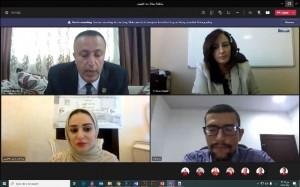 مناقشة رسالة الماجستير الأولى في تخصص التصميم الداخلي في جامعة عمان الاهلية