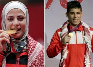 الصادق وعشيش يحملان العلم الأردني في افتتاح الأولمبياد