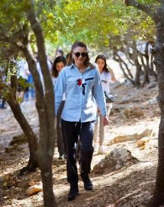 الملكة تشارك باحدى مسارات درب الأردن في برقش