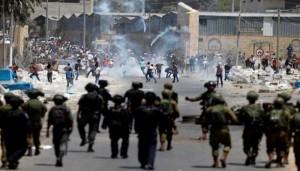 إصابة عشرات الفلسطينيين خلال بمواجهات مع الاحتلال