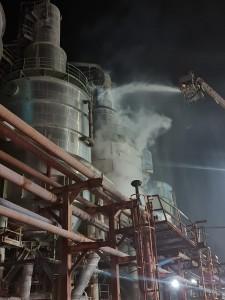 السيطرة على حريق بسيط في مصنع البوتاس