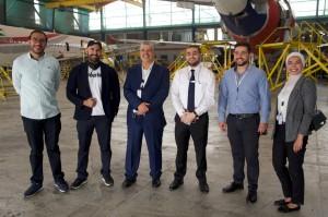 في اطار التعاون.. وفد من  جامعة الحسين  يزور مركز العمليات في الشركة الأردنية للطيران