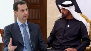 بن زايد والأسد يبحثان العلاقات بين سوريا والامارات