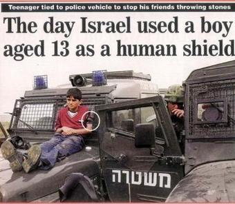 القناة الإسرائيلية العاشرة: الجيش يحول الفلسطينيين إلى دروع بشرية!