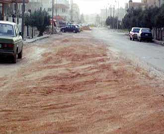 الأمطار تكشف المستور في شوارع اربد بسبب الإخلال بعطاءات الصرف الصحي