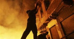 ستة إصابات اثر حريق في سكن طالبات باربد