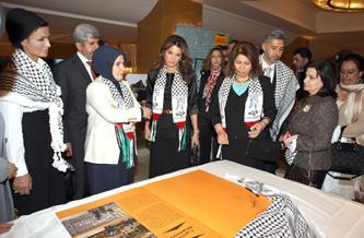 الملكة رانيا: يجب تنسيق الجهود لضمان وصول المساعدات الى غزة