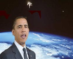 هل يكون أوباما أول رئيس في العالم يقوم برحلة للفضاء ؟