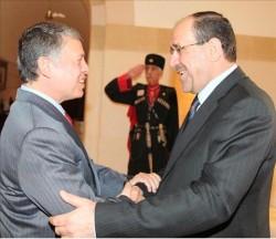 الملك يستقبل رئيس الوزراء العراقي