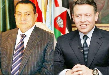 الملك يبحث هاتفيا مع الرئيس المصري التطورات العربية