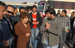 انهاء اعتصام طلبة الهاشمية المتعلق بقضايا النقل