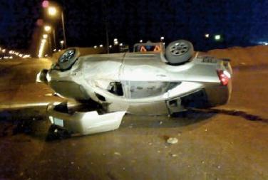 وفاة واصابتان بحادث تدهور في منطقة صياغة