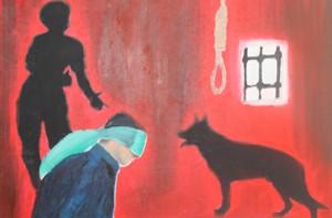 (أوقفوا التعذيب الان).. لوحات صارخة بآلام ارض السواد