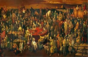 نوافذ: لوحة المشاهيرعمل فني صيني