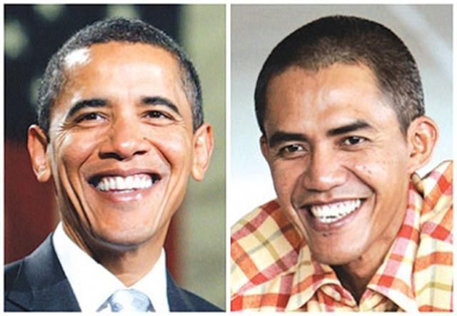شبيه بالرئيس الأمريكي اوباما يقفز الى عالم الشهرة