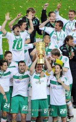 فريق فيردر بريمن يتوج بطلا لكأس ألمانيا