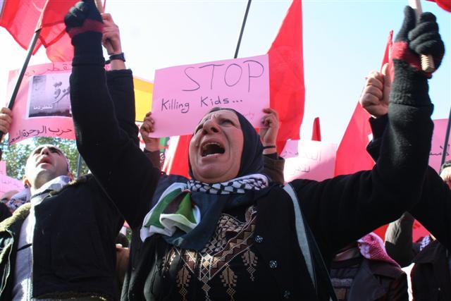 اعتصام حاشد  أمام مجلس النواب يطالب بقطع العلاقات مع اسرائيل