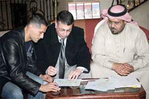بشار بني ياسين يوقع للحزم السعودي