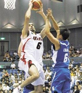 الاردن يحقق فوزا غاليا على لبنان في بطولة اسيا لكرة السلة