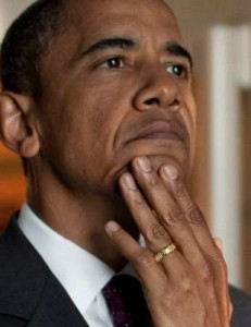 لا اله الا الله .. منقوشة على خاتم زواج أوباما .. شاهد بالصور والفيديو