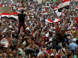 لقطات من طائرة تصور ملايين المصريين المؤيدين لمرسي (فيديو)