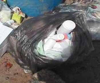 تسـريب النفايات الطبية إلى حـاويـــات الأمـانـة !!