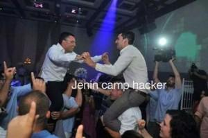 افيخاي يرقص مع المتحدث باسم الجيش المصري (صورة)