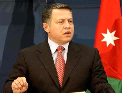 الملك: الامن والسلام يتحققان بتسوية سلمية نهائية على اساس حل الدولتين